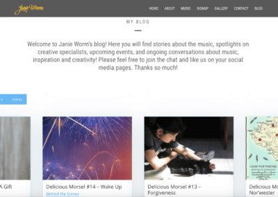 """The BLOG is """"Live""""!"""